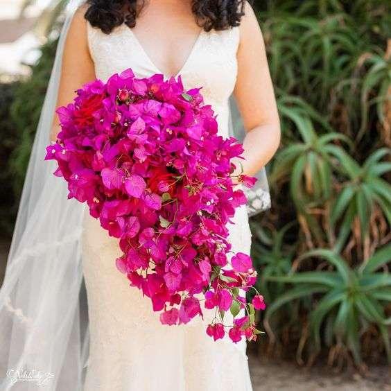 Bougainvillea Wedding Bouquet 1