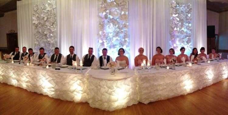 Wedding headtable