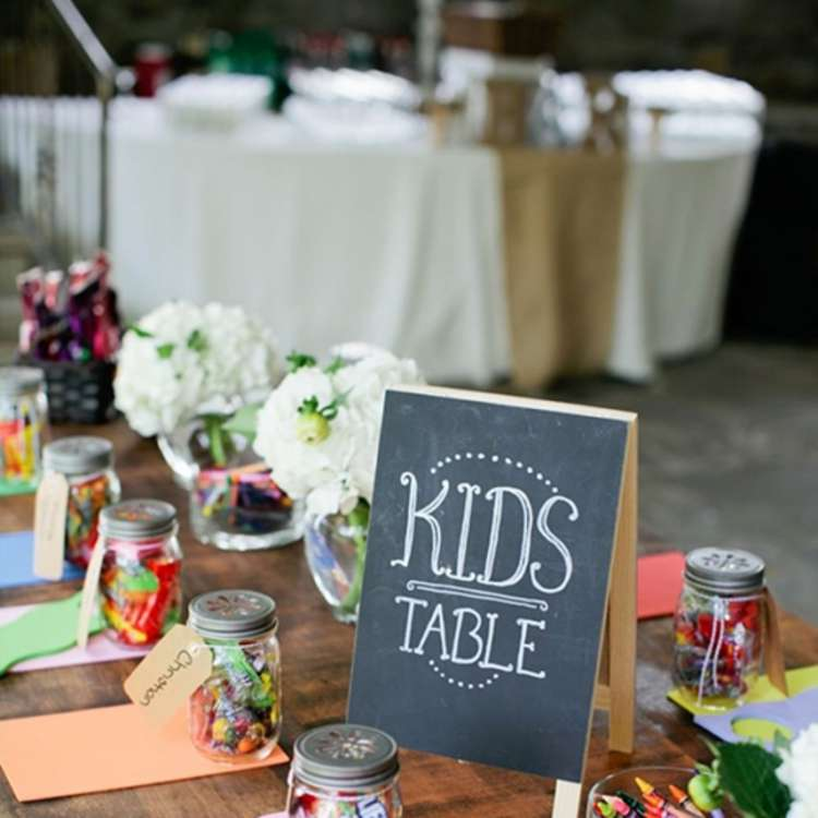 Children table at a wedding