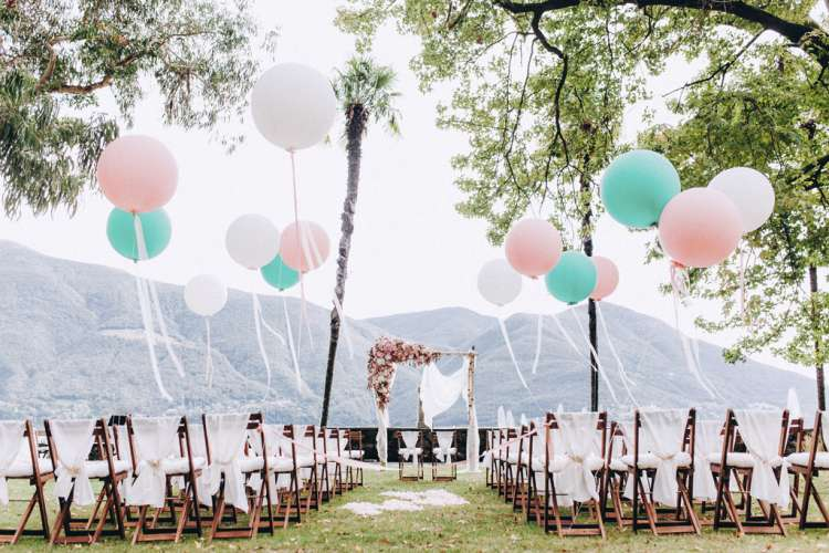Wedding ceremony in Brissago. Photo credit: David and Kathrin