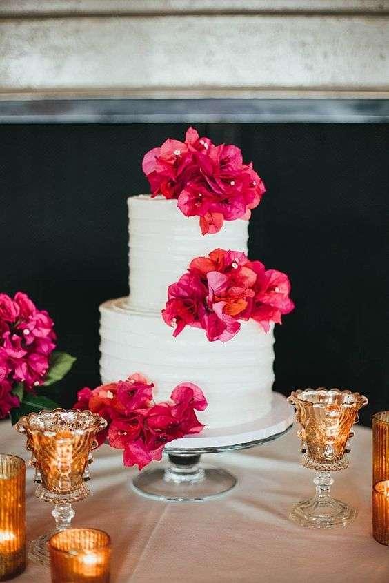 Bougainvillea Wedding Cake 2