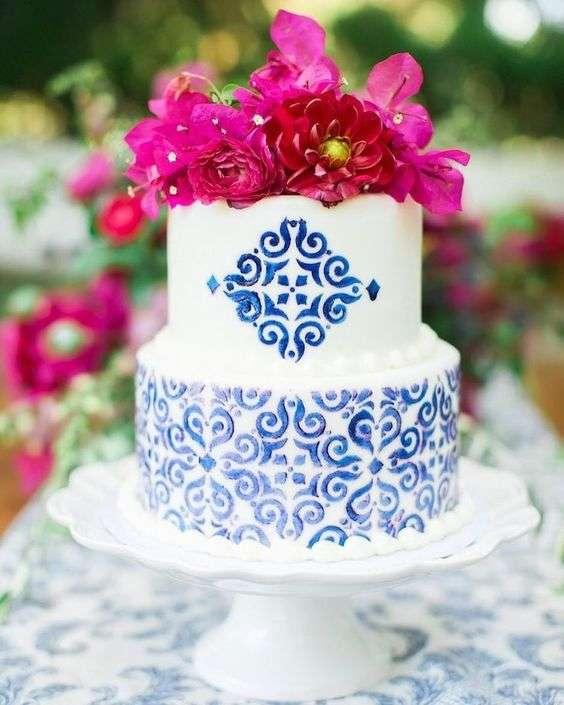 Bougainvillea Wedding Cake