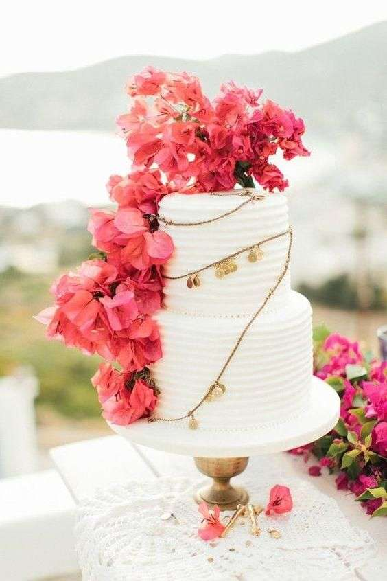 Bougainvillea Wedding Cake 1