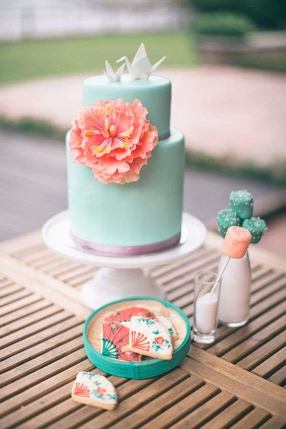 Origami Wedding Cake Topper 1