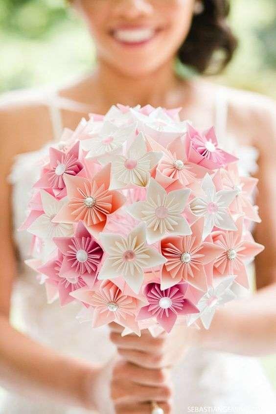 Origami Wedding Bouquet 1
