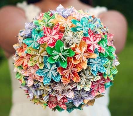 Origami Wedding Bouquet 2