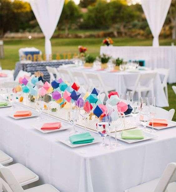 Origami Wedding Centerpieces