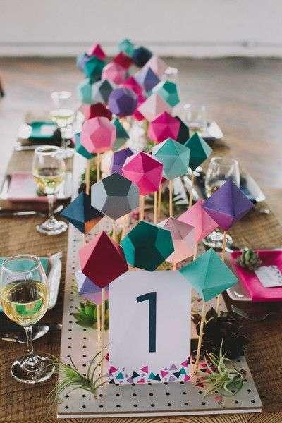 Origami Wedding Centerpieces 1
