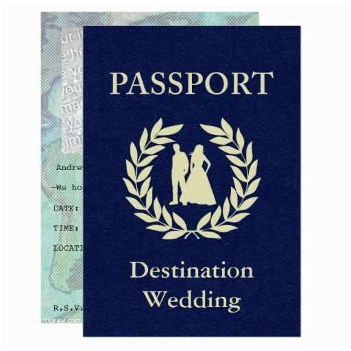 Passport style invitation card