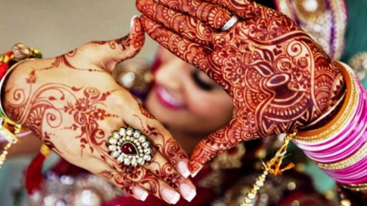 Mehendi at an Indian Wedding