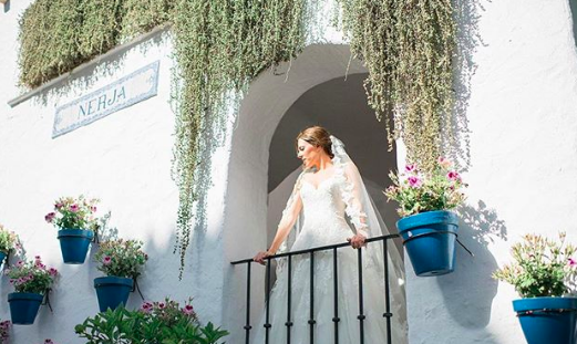 A bride at Hotel Puente Romano in Marbella