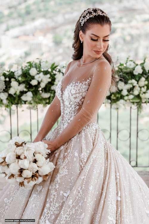A peony wedding bouquet