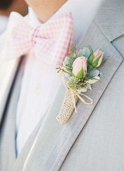 Pink and Grey Groom Suit