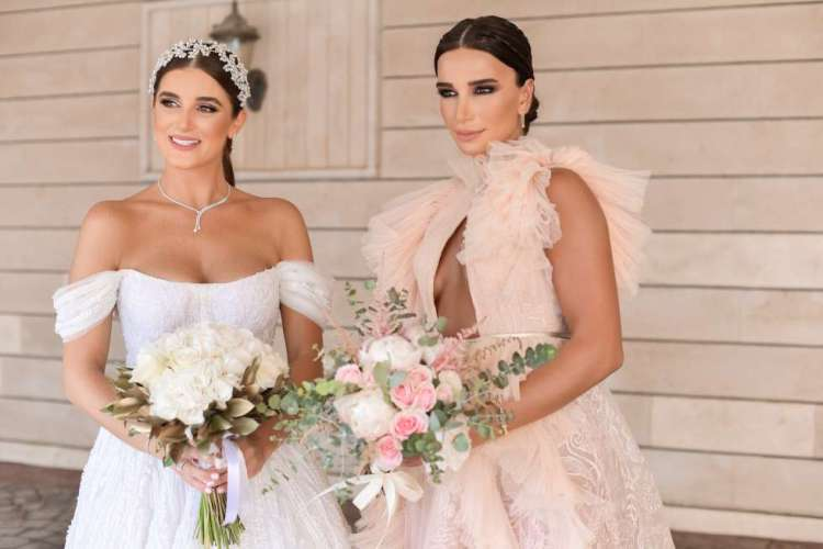 Lebanese bride and bridesmaid