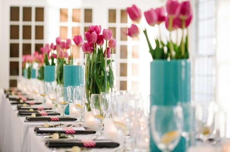 Pink and Aqua Wedding