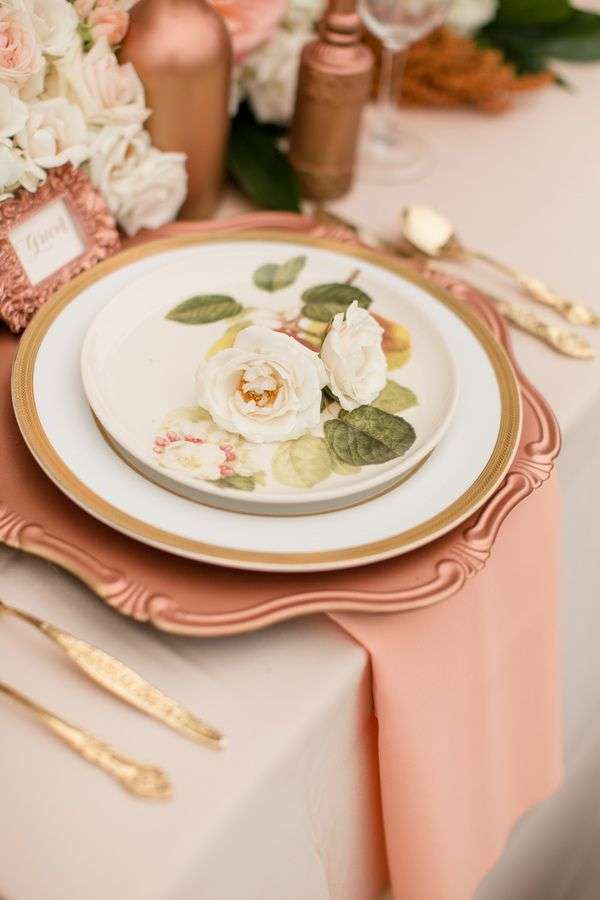 Pink and Copper Wedding