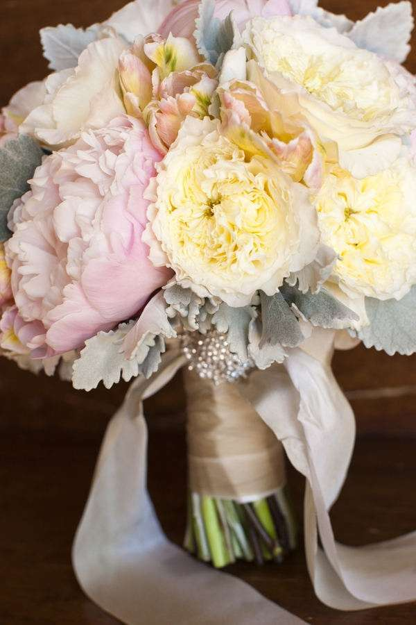 Pink and Yellow Wedding Bouquet 1
