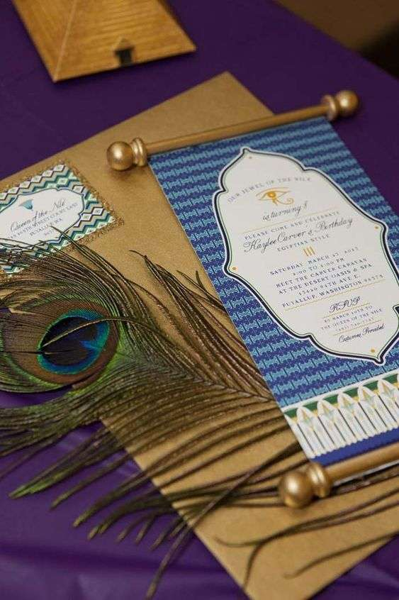 Egyptian Wedding Invitation