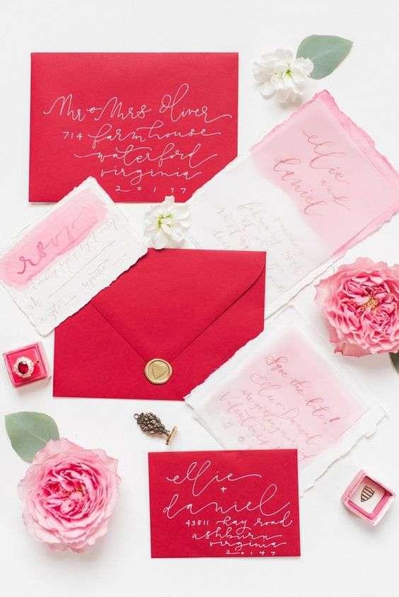 Valentines' Day Wedding Invitations 1