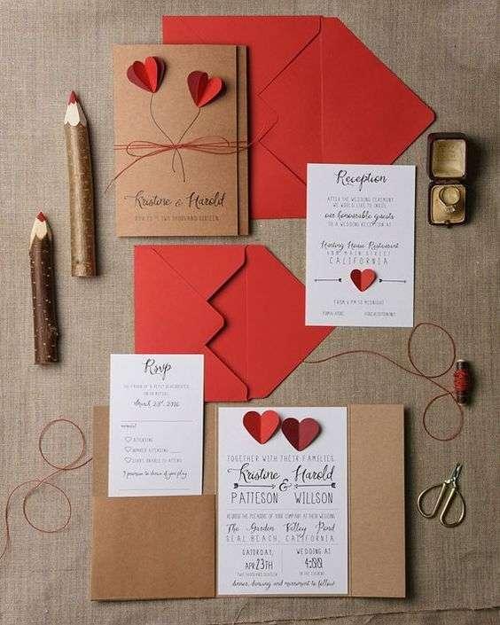 Valentines' Day Wedding Invitations