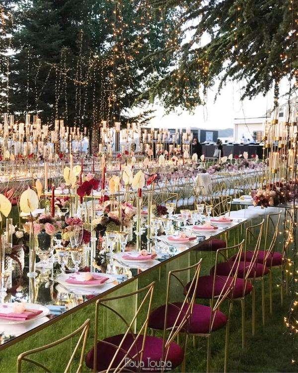 Burgundy Wedding in Lebanon