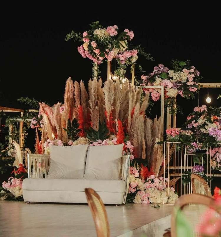 حفل زفاف بوهيمي في قطر