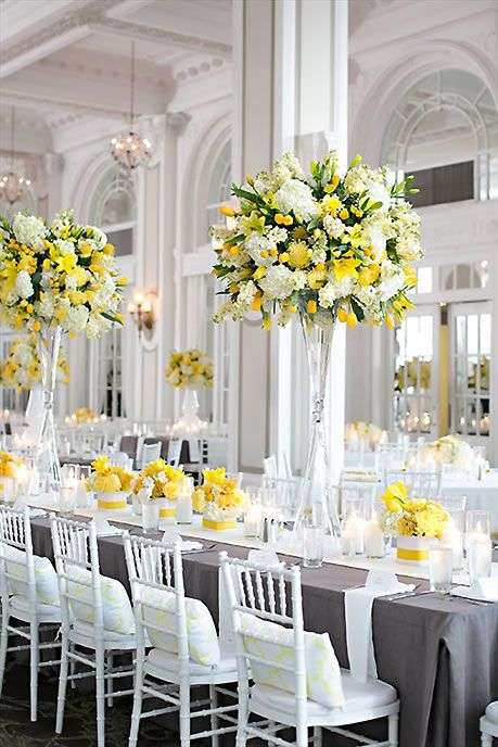 Yellow and Grey Wedding 1