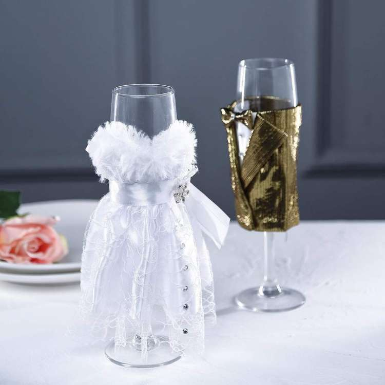 Customized Bride and Groom Glasses