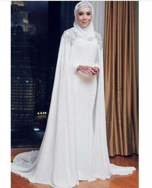Hijab Wedding Dress with Cape