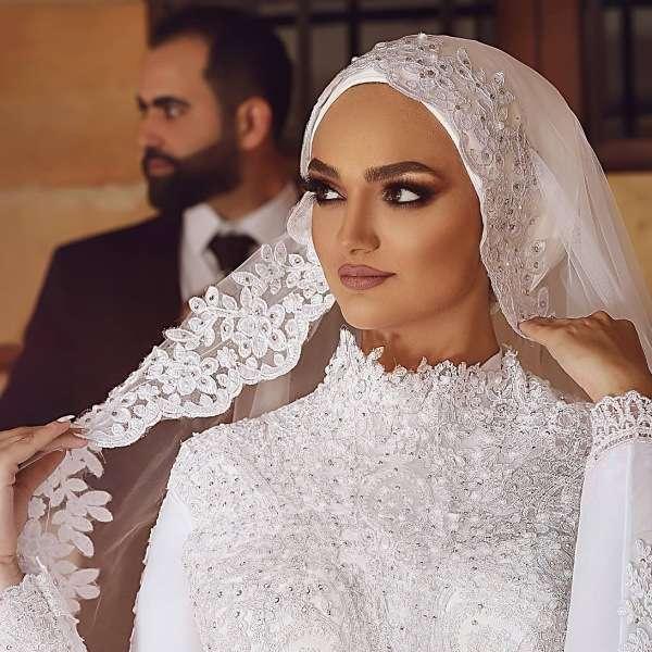 Simple Bridal Hijab