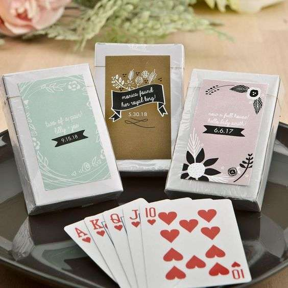 Deck of Cards Wedding Favors