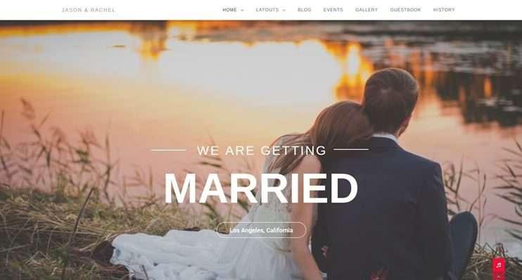 موقع الزفاف