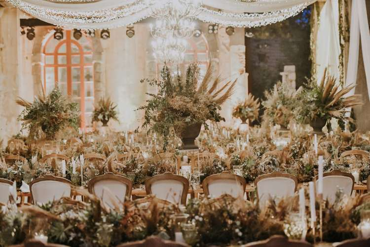 Wedding with Pampas
