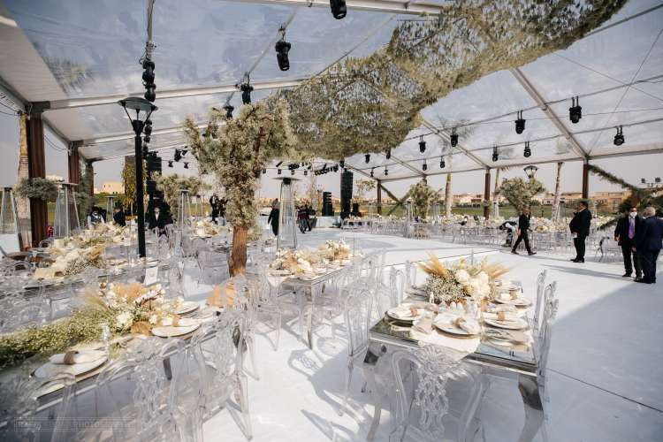 All White Rustic Wedding