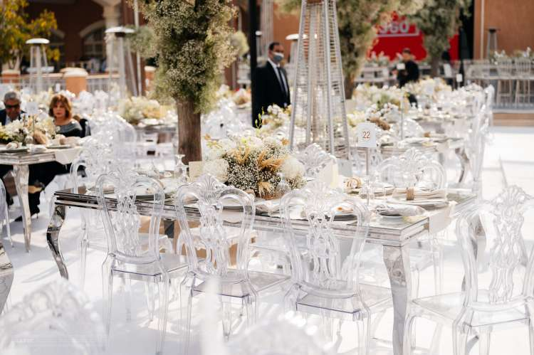 All White Rustic Wedding Colors