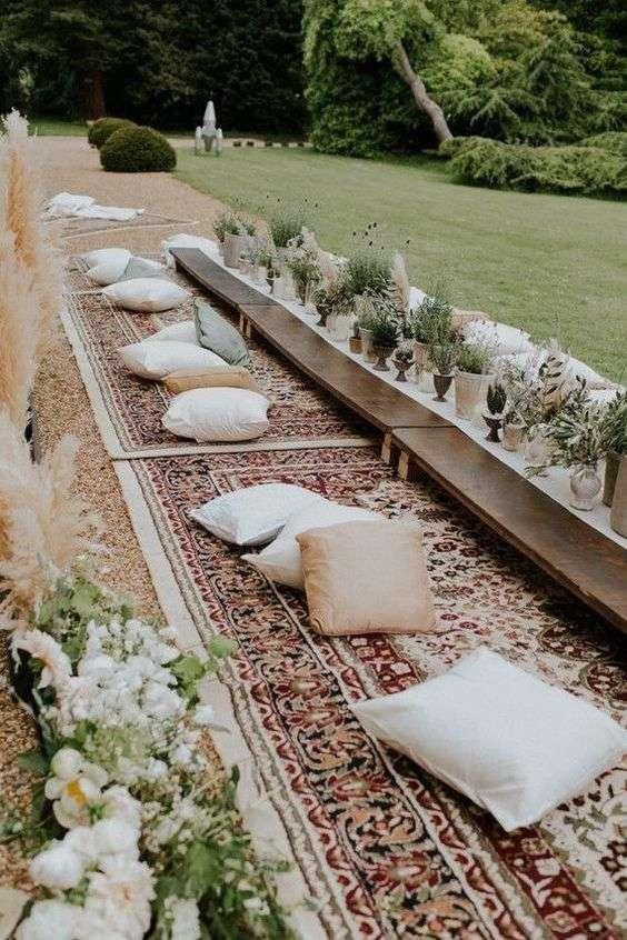 Floor Seating at Weddings