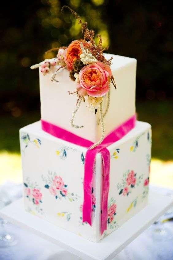 Square Wedding Cake 2
