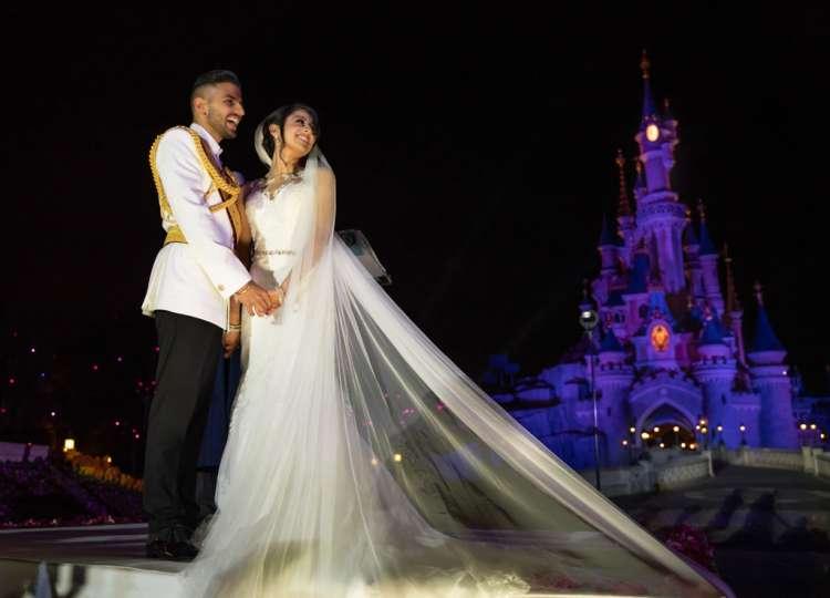 A Fairy-Tale Wedding in Disneyland Paris