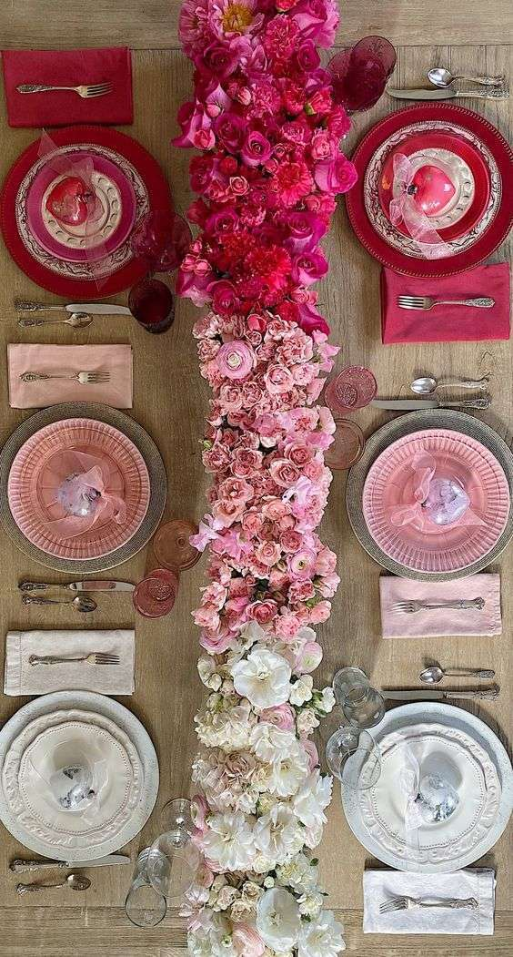 Neutrals and Berry Wedding Table