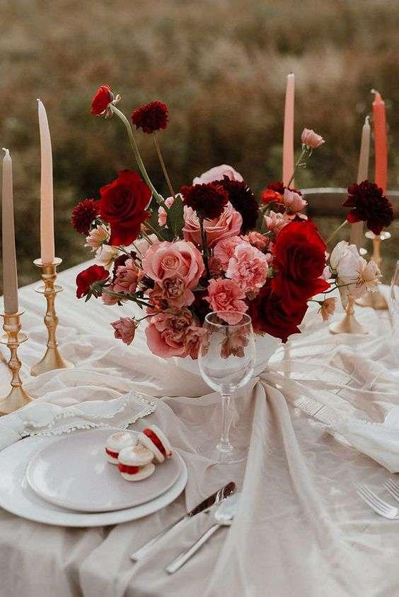 Neutrals and Berry Wedding Decor