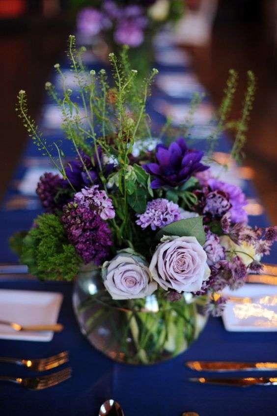 Plum and Navy Blue Wedding