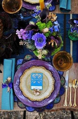Plum and Navy Blue Wedding Decor