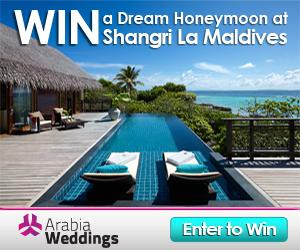 Win A Honeymoon At The Shangri La Maldives with Arabia Weddings!