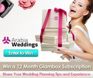 Win a 12 Month Subscription from Glambox ME with Arabia Weddings