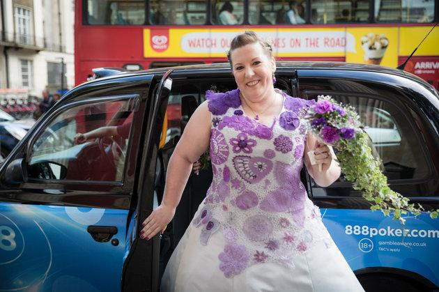 A Bride Spent 1,000 Hours Crocheting Her Own Wedding Dress