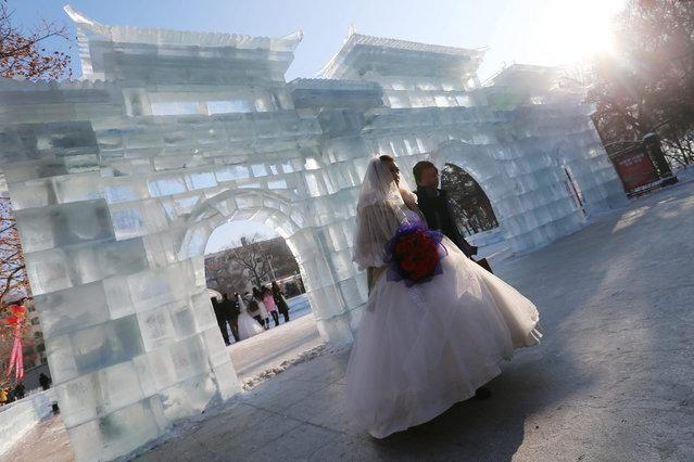 Mass Wedding at Ice Festival in China