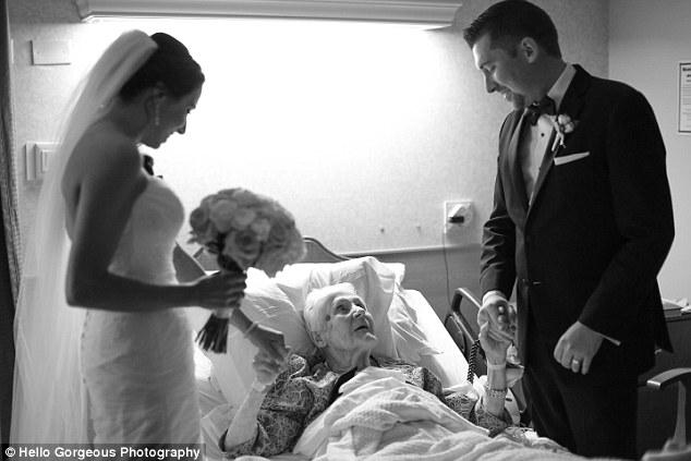 Bride and Groom Surprise Groom's Grandmother at Hospital