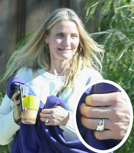 Cameron Diaz Shows Off New Wedding Ring After One Year Anniversary