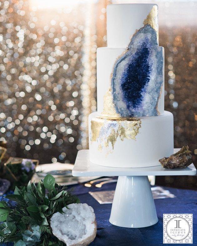 Amazing Geode Wedding Cake Going Viral