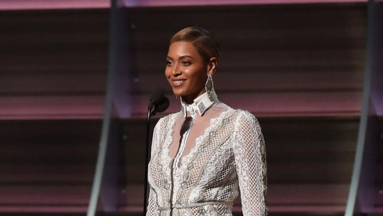 Beyonce Wore a Wedding Dress to The Grammy Awards